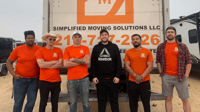 Pictured: Simplified Moving Solutions crew members