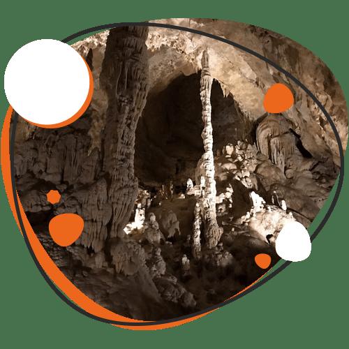 Image of caves at Natural Bridge Caverns, Cibolo TX