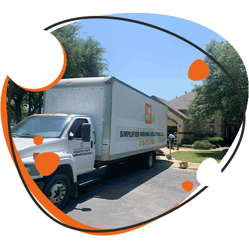 Graphic of Simplified Moving Solutions moving truck