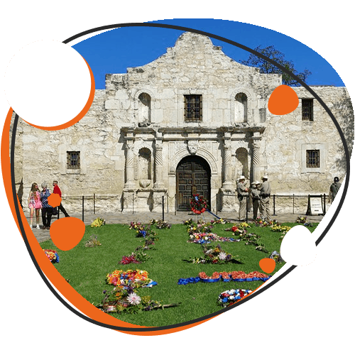 Image of The Alamo in TX