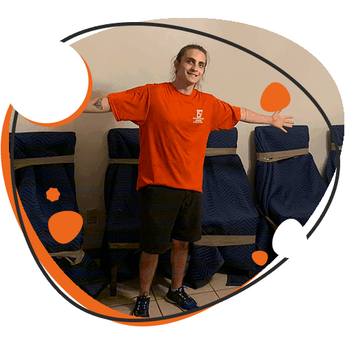 Graphic of SMS moving team member